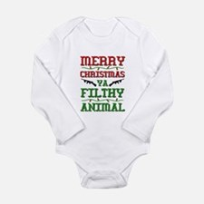 Merry Christmas Ya Filthy Animal funny Body Suit