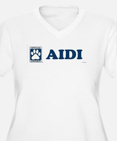 AIDI Womes Plus-Size V-Neck T-Shirt