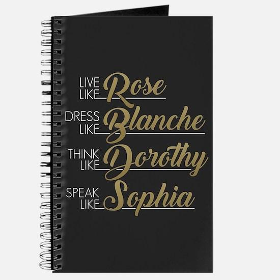 Live, Dress, Think, Speak Journal