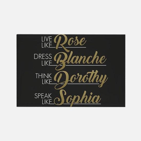Live, Dress, Think, Speak Rectangle Magnet