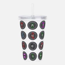 Astrology Icon Buttons Acrylic Double-wall Tumbler