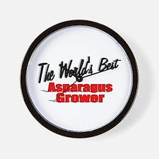 """The World's Best Asparagus Grower"" Wall Clock"