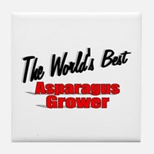 """The World's Best Asparagus Grower"" Tile Coaster"