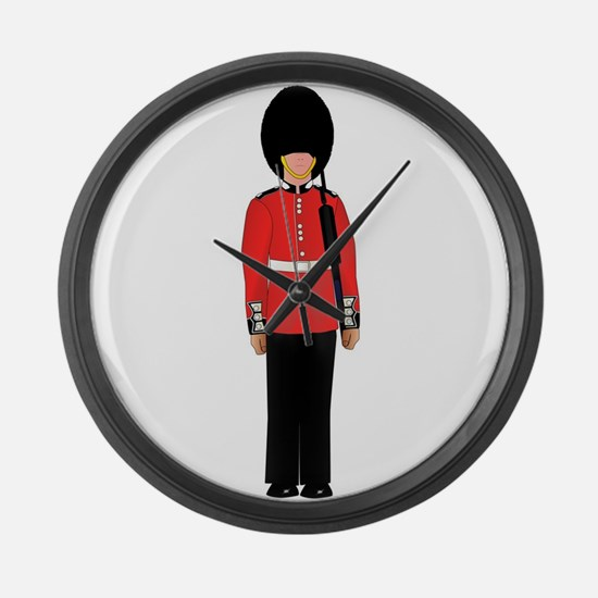 British Soldier On Guard Duty Large Wall Clock