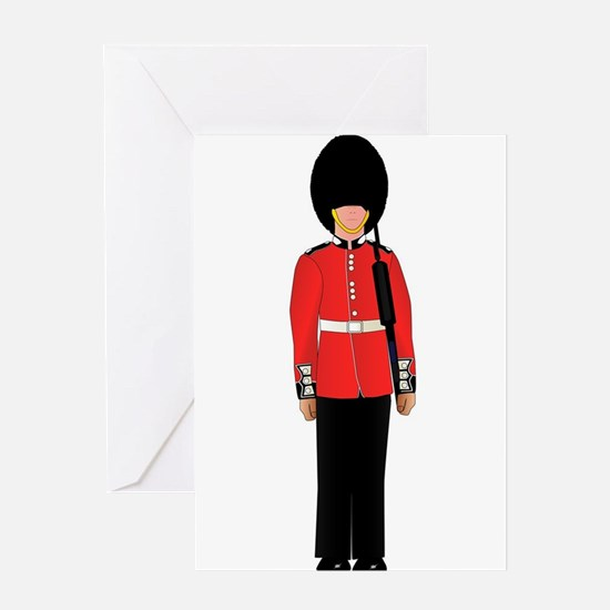 British Soldier On Guard Duty Greeting Cards