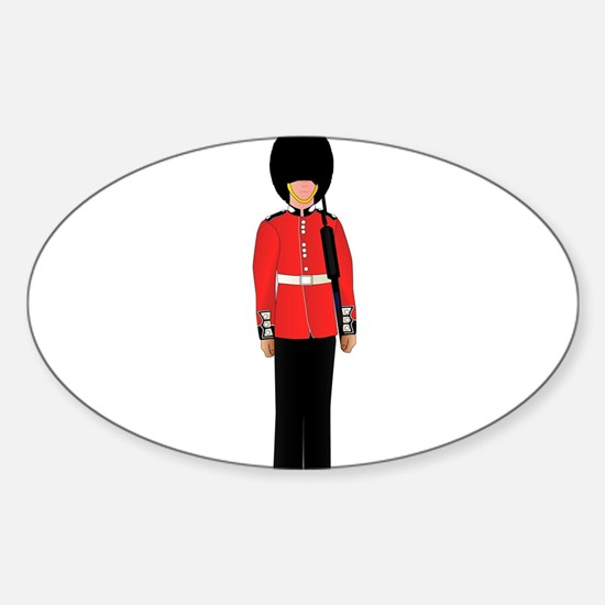 British Soldier On Guard Duty Decal