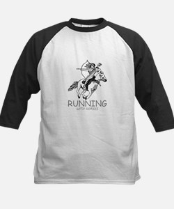 running with horses Baseball Jersey