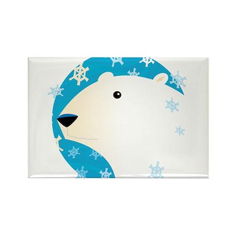 Winter Polar Bear Rectangle Magnet (100 pack)
