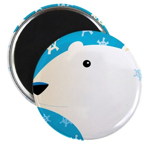 """Winter Polar Bear 2.25"""" Magnet (100 pack)"""