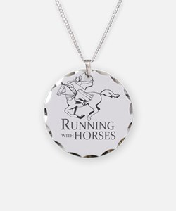 running with horses Necklace