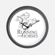 running with horses Wall Clock