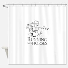 running with horses Shower Curtain