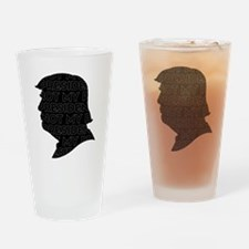 Not My President Silhouette Drinking Glass