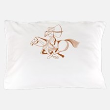 running with horses Pillow Case