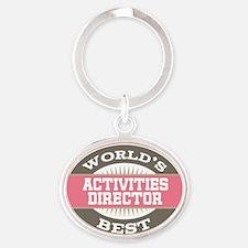 activities director Oval Keychain