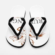running with horses Flip Flops
