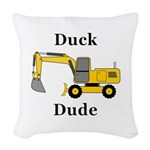 Duck Dude Woven Throw Pillow
