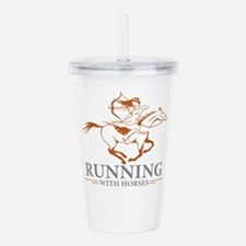 running with horses Acrylic Double-wall Tumbler