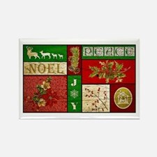 Vintage Holiday collage Magnets