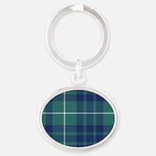 Tartan - Hamilton hunting Oval Keychain
