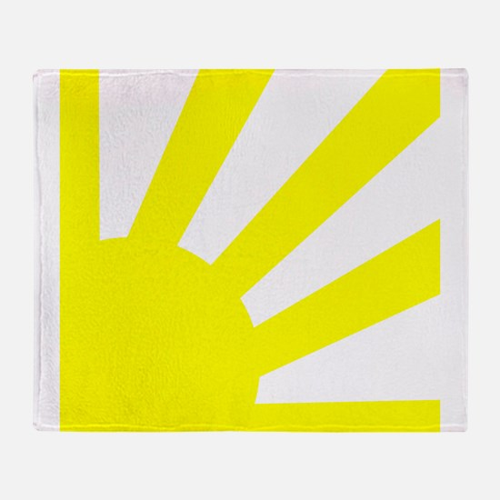 Yellow Sunburst Throw Blanket