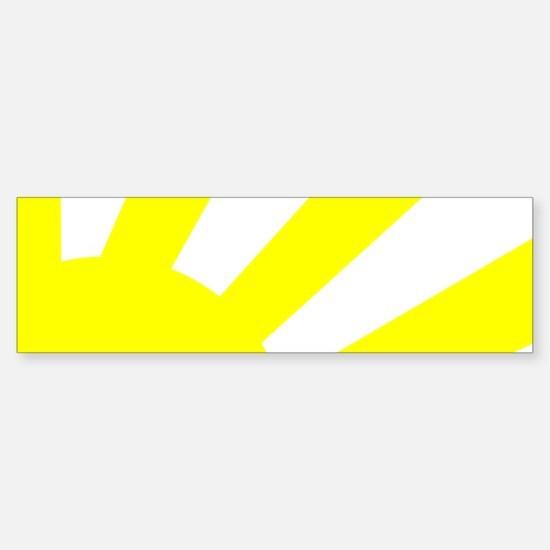 Yellow Sunburst Bumper Bumper Bumper Sticker