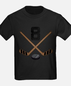 Hockey Player Number 8 T-Shirt