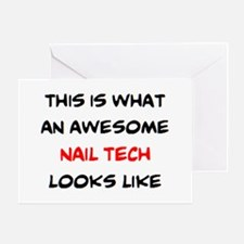 awesome nail tech Greeting Card