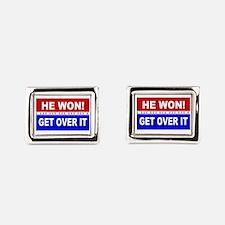 Unique Political Rectangular Cufflinks
