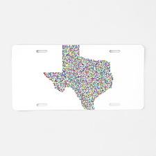 Prismatic Rainbow Texas Sta Aluminum License Plate