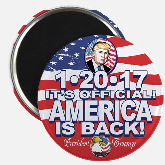 America is Back Trump Inauguration Magnet