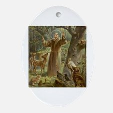 Cute St francis Oval Ornament