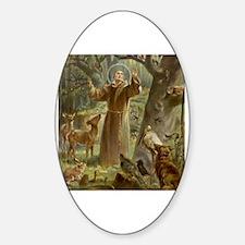 Cute St francis Sticker (Oval)