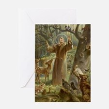 Unique St francis Greeting Card