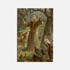 Funny St francis Rectangle Magnet