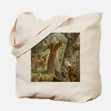 Cute Saint francis Tote Bag