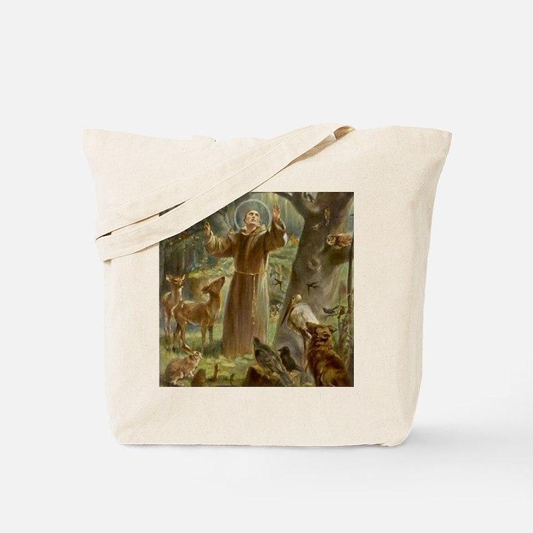 Cute St francis of assisi Tote Bag