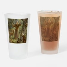 Cute Prayer of st francis of assisi Drinking Glass