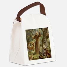 Cute Saint francis Canvas Lunch Bag