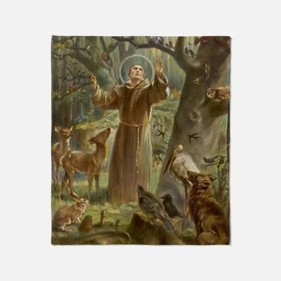 Unique Saint francis Throw Blanket