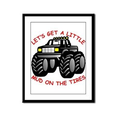 Mud On The Tires #0011 Framed Panel Print
