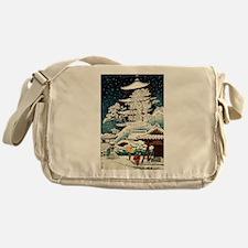 Cool Japanese Oriental Snow Winter Messenger Bag