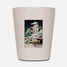 Cool Japanese Oriental Snow Winter Shot Glass