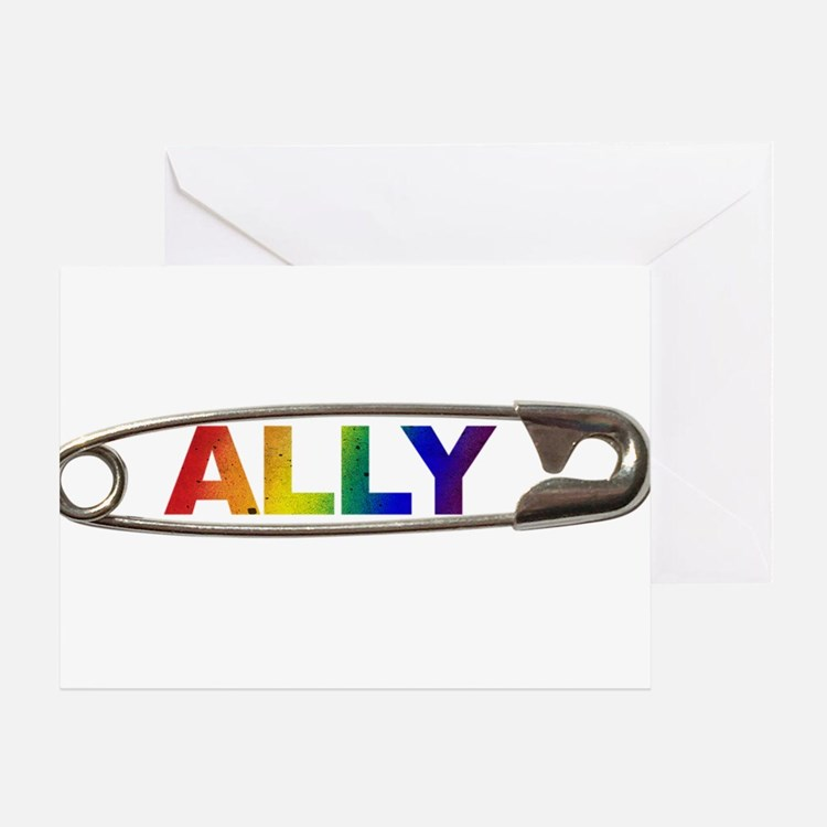 Safety Pin Ally Lgbtq Greeting Cards