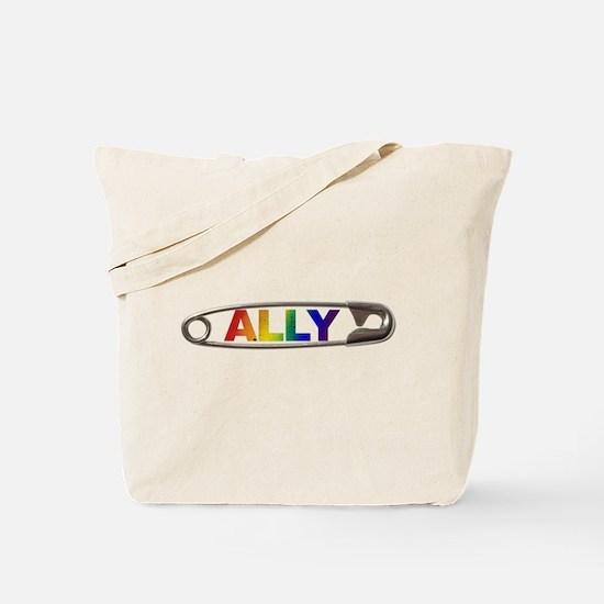 Safety Pin Ally LGBTQ Tote Bag