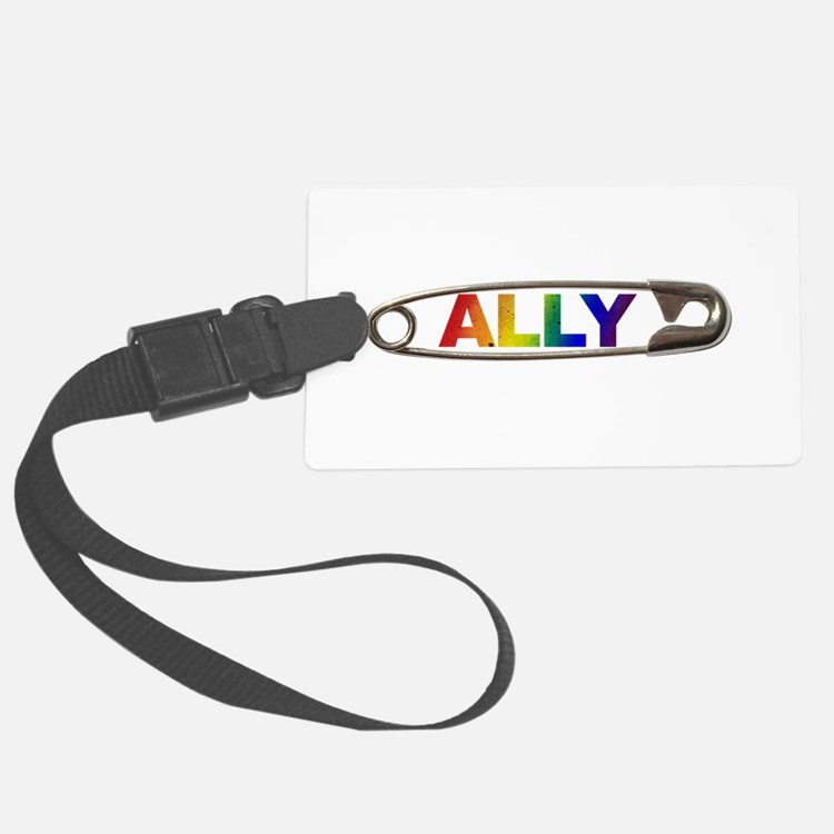 Safety Pin Ally Lgbtq Luggage Tag
