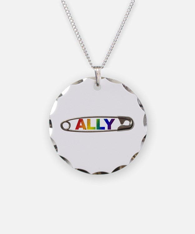 Safety Pin Ally Lgbtq Necklace
