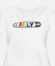 Safety Pin Ally LGBTQ Plus Size T-Shirt