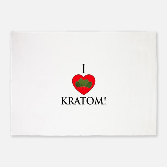 I Love Kratom! 5'x7'Area Rug
