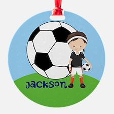 Soccer Kid Custom Ornament